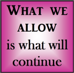 What we allow