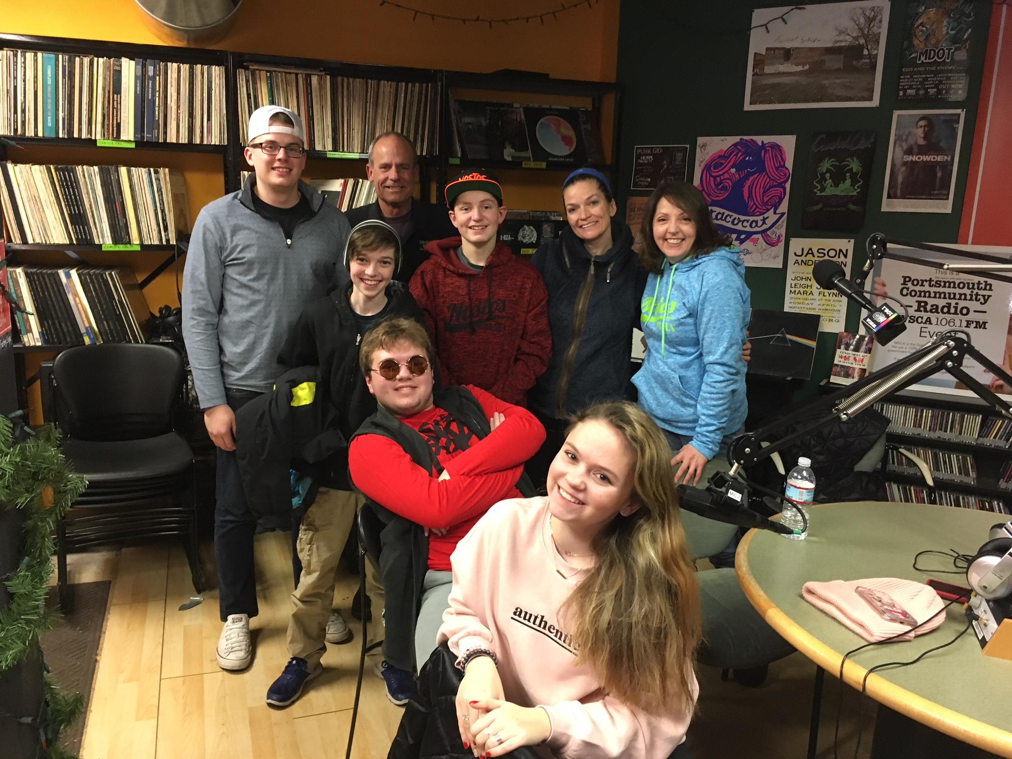 Cast of JTR in studio